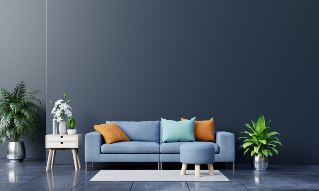 modern-living-room-interior-with-sofa-green-plants-lamp-table-dark-wall-background_41470-1528